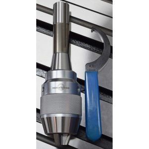 "5/8"" Ultra High Precision Keyless Drill Chuck with R8 Shank, Wrench Included"