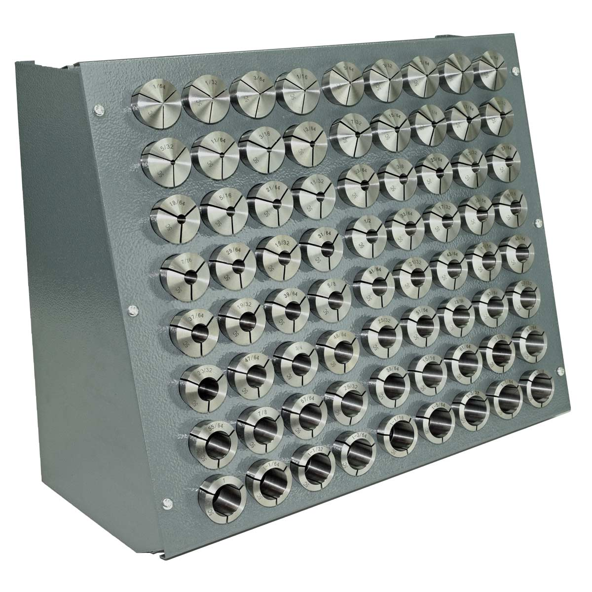 72 Pc Precision Inch 5 C Collet Set 1 64 To 8